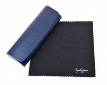 Metal Glasses Case With Microfiber Cleaning Soft Cloth Blue R2