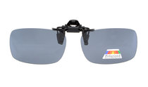 Flip-up Clip-on Sunglasses Polarized 59x39 MM 3-Pack Metal Glasses Clip Grey Lens JQ2-3pcs