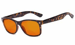 Blue Blocking Amber Bifocal Glasses for Sleep-Nighttime Orange Tinted Glasses SGS109