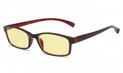 Computer Reading Glasses Blue Light Blocking Yellow Tinted Lens Black-Red TMCG177