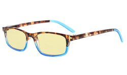 Computer Reading Glasses Women Blue Light Blocking Yellow Tinted Lens Blue TMCG111