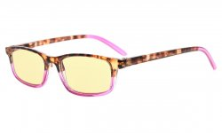 Computer Reading Glasses Women Blue Light Blocking Yellow Tinted Lens Purple TMCG111