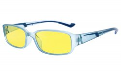 Computer Reading Glasses Anti Blue Light Yellow Tinted Lens for Electronic User Blue CGXM03