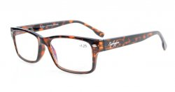 Computer Reading Glasses Stylish Spring Hinges Amber Tinted Lenses Tortoiseshell CG108