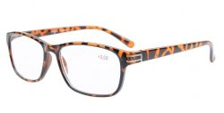 Reading Glasses Classical Style with Metal Ornament Readers Men Tortoise R056