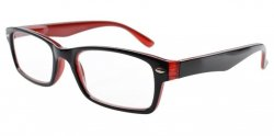 Reading Glasses Quality Spring Hinges Retro Color Frame Black-Red R055