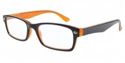 Reading Glasses Quality Spring Hinges Retro Color Frame Black-Yellow R055