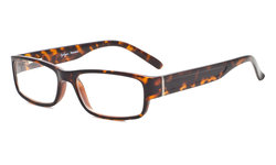 Reading Glasses Classic Full Frame Design with Quality Spring-Hinges Temples Women Men Tortoise R092