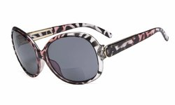 Bifocal Sunglasses Oversize For Women Pink/Demi S055-Bifocal
