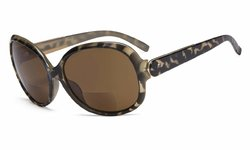 Bifocal Sunglasses Oversize For Women Brown/Demi S055-Bifocal