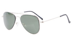 Stainless Steel Frame Pilot Kids Children Sunglasses Silver-G15 S15017