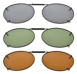 3-Pack Clip-on Polarized Sunglasses 2×1 5/16 inch (51x33MM) C76-3pcs-Mix