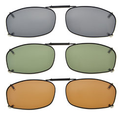 3-pack Clip-on Polarized Sunglasses 2 1/16 x1 1/4  inch (52x32MM) C69-3pcs-Mix