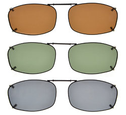 3-pack Clip-on Polarized Sunglasses 2 1/8 x1 5/16 inch (54×34MM) C68-3pcs-Mix