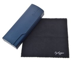 Metal Glasses Case With Microfiber Cleaning Soft Cloth Men Womens Blue R3