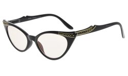 Cateyes Computer Glasses UV Protection Eyeglasses Women Black CG914