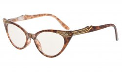 Cateyes Computer Glasses UV Protection Eyeglasses Women Tortoise CG914