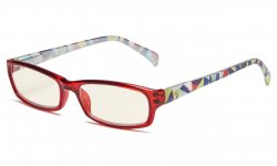 Computer Reading Glasses Digital Eye Strain Prevention Red UVRT1803