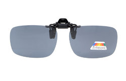 Flip-up Clip-on Sunglasses Polarized 60x43 MM 4-Pack Metal Glasses Clip Grey Lens JQ3-4pcs