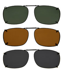 3-pack Clip-on Polarized Sunglasses 2 1/8 x1 7/16 inch (54×37MM)  C64-3pcs-Mix