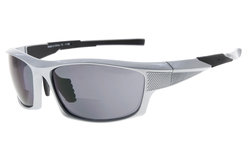 Bifocal Sunglasses UV400 Protection Quality TR90 Frame Sport Design Sunshine Readers Men Pearly-Silver SG904-Bifocal