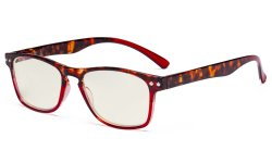 Blue Light Filter Glasses - UV420 Protection Design Computer Eyeglasses for Women Reading Screen - Tortoise/Red UVR046D