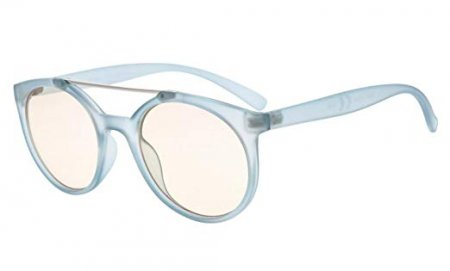 ddad22ebe5 Computer Reading Glasses UV Protection Anti Glare Round Stylish Frame  Tinted Lens Women Blue CGS054