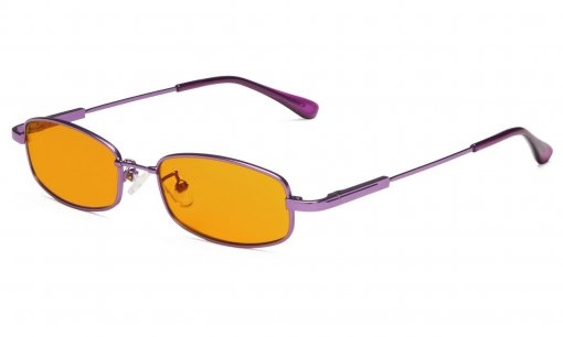 Computer Glasses Anti Blue Light Girls Rectangle Memory Frame Purple DSK1804