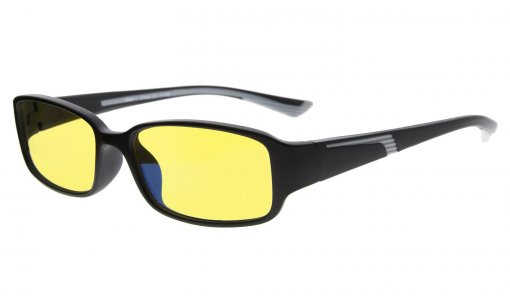 Computer Reading Glasses Anti Blue Light Yellow Tinted Lens for Electronic User Black-Grey CGXM03