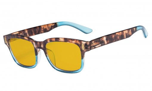 Stylish Computer Reading Glasses with 80% Blue Blocking Visible Coating Tortoise Blue CGT1802