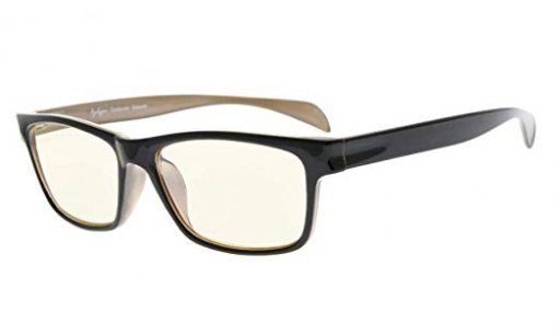 Computer Reading Glasses UV Protection Anti Glare Classic Memory TR90 Flex Frame for Women Men Black-Brown CGTR090