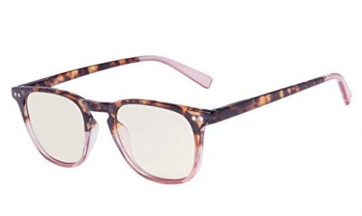 Fashion Reading Glasses with UV Protection Amber Tinted Lens DEMI-Pink CG179