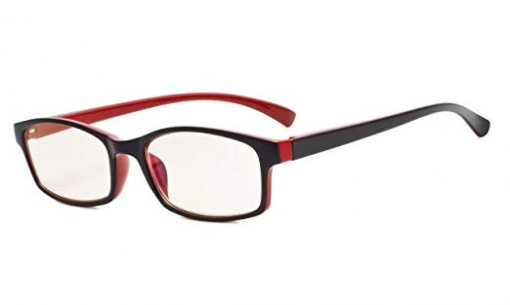 UV Protection Reading Glasses Amber Tinted Lens Black-Red CG177