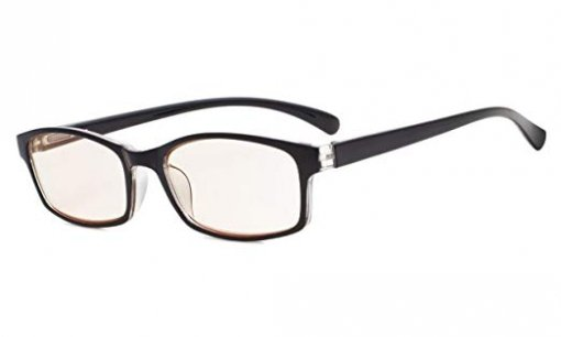UV Protection Reading Glasses Amber Tinted Lens Black-Transparent CG177