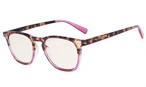 Fashion Reading Glasses with UV Protection Amber Tinted Lens DEMI-Purple CG179