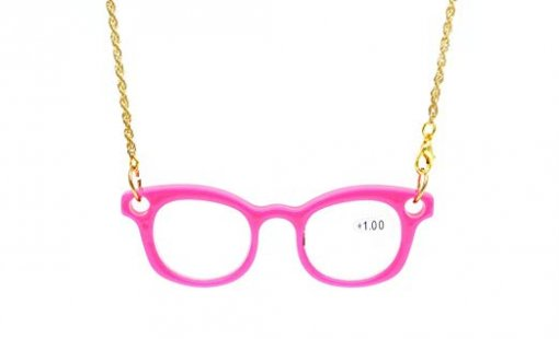 Reading Glasses Stylish Design Quality Necklace Temple Readers Women Men Pink NR001