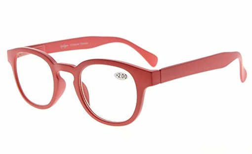 Reading Glasses UV Protection Anti Reflective Coating Candy Color Frame with Spring Hinge Red TMCG124