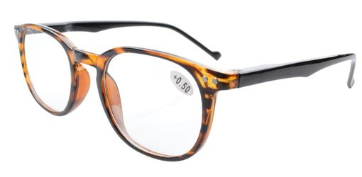 Reading Glasses Quality Spring Hinge Temples with Large Frame Amber R065