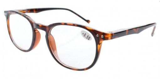 Reading Glasses Quality Spring Hinge Temples with Large Frame Tortoise R065
