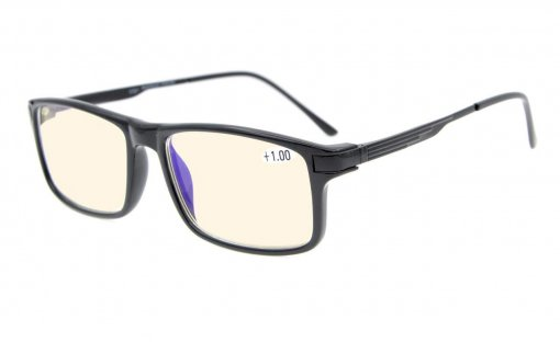 Bifocal Reading Glasses-Noline Progressive Multifocus Glasses-TR90 Frame 3 Levels Vision Readers Black MBTR009