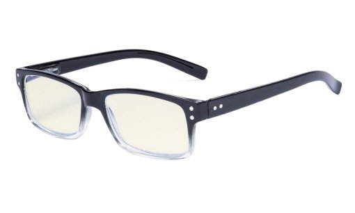 Computer Glasses UV Protection Anti Glare/Blue Rays Readers Black/Transparent Arm CG032
