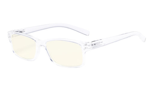 Computer Glasses UV Protection Anti Glare/Blue Rays Readers Transparent Frame CG032