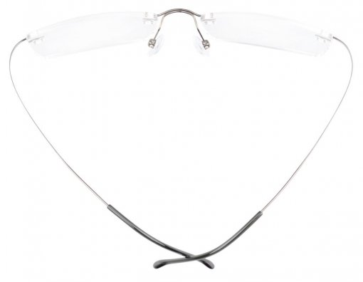 Titanium Rimless Reading Glasses Readers Gunmetal R1509