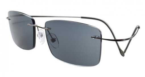 Titanium Rimless Reading Glasses Readers Grey lens R1509