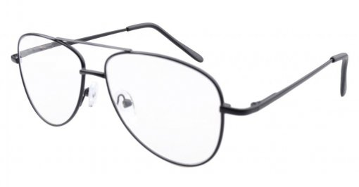 Pilot Style Metal Frame Spring Hinges Reading Glasses Black R1502