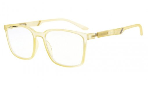 Large Frame Readers Special Spring Hinges Reading Glasses Men Women Yellow R151