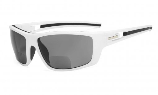Bifocal Reading Sunglasses for Sports TR90 White S066-Bifocal
