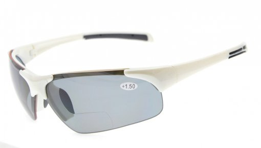 Bifocal Sunglasses UV400 Protection Quality Unbreakable TR90 Frame Half-rimless White Frame TH6186-Bifocal