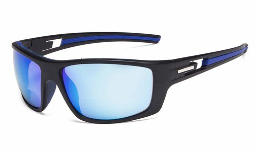 Bifocal Reading Sunglasses for Sports TR90 Blue Mirror S066-Bifocal