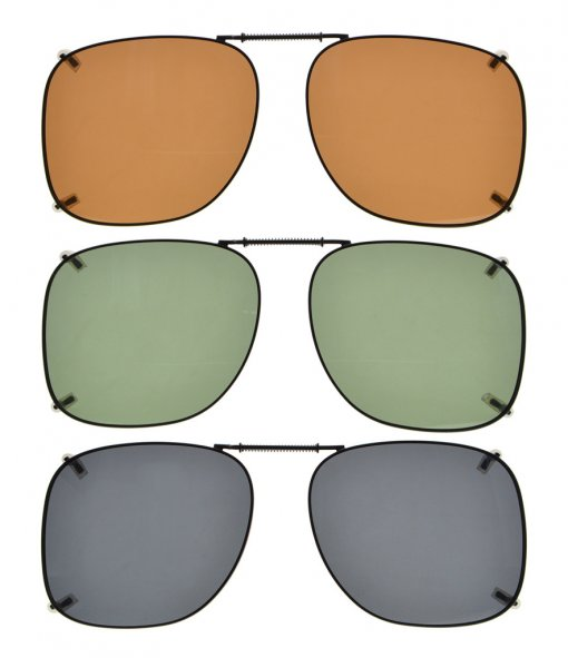 3-pack Clip-on Polarized Sunglasses 2 1/16 x1 13/16 inch (53×46MM) C66-3pcs-Mix